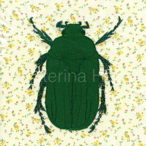 An applique image of Rose Chafer