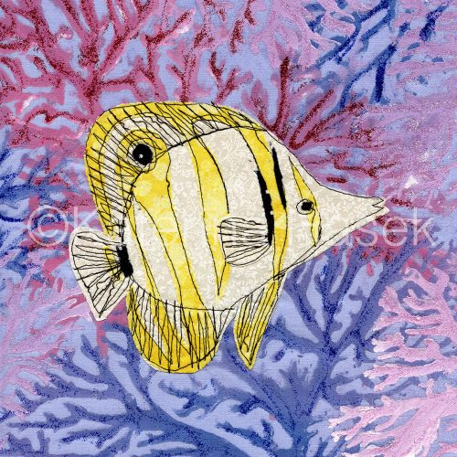 An applique image of Copperband Butterflyfish
