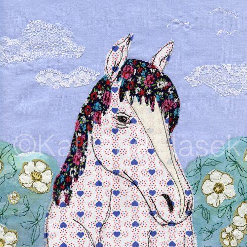 An applique image of Horse