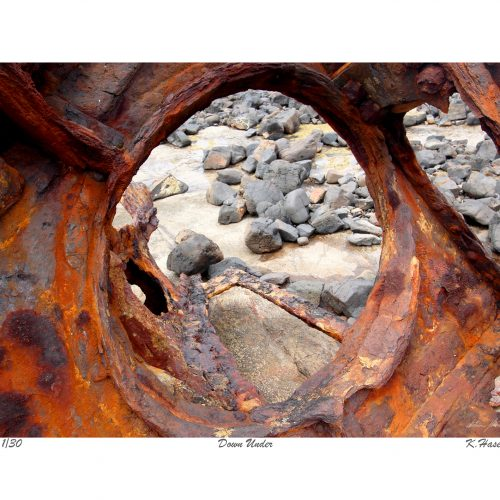 Down Under. Limited Edition Print of the remains of three mastered steel ship of 2,876 tons and 93 metres S. S. Speke, built in Wales, 1891, that drifted broadside on to a reef to the east of Kitty Miller Bay, Phillip Island, Australia, Victoria on 22nd February 1906.
