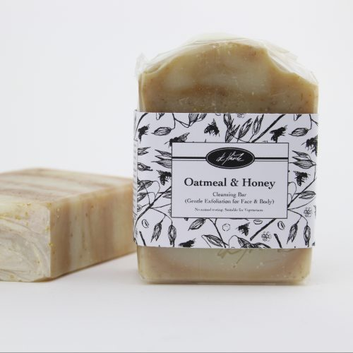 OATMEAL & HONEY CLEANSING BAR (Gentle Exfoliation for Face & Body)
